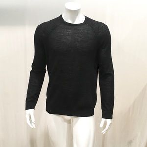 Vince Men's Black Alpaca Crewneck Sweater